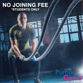 No Joining Fee at Pump Gyms (Students Only)