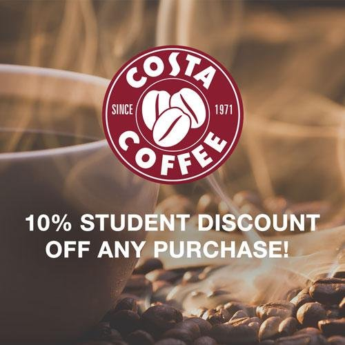 10% Student Discount at Costa Coffee